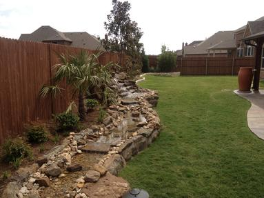 Little Elm water features install, waterfall repairs, Frisco